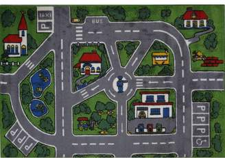 Fun Rugs Supreme Streets Kids Gray/Green/Red Area Rug Rug