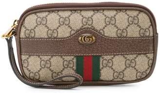 Gucci GG Supreme wristlet pouch