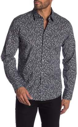 John Varvatos Paisley Print Long Sleeve Regular Fit Shirt