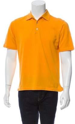 Kiton Short Sleeve Piqué Polo