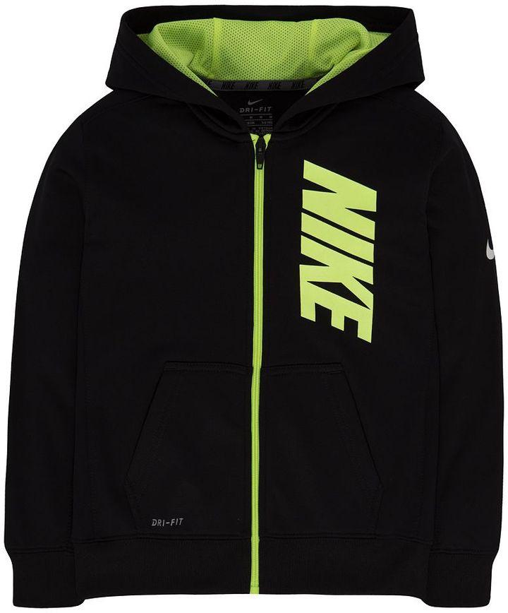 Boys 4-7 Nike Therma-FIT Fleece Logo Graphic Hoodie