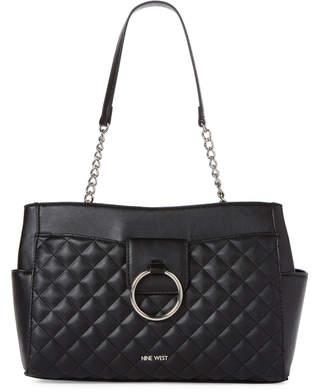 Nine West Black Jadwiga Satchel