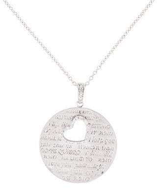 14K I Love You Diamond Heart Necklace