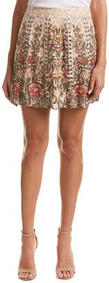 Haute Hippie Sagat Silk A-Line Skirt