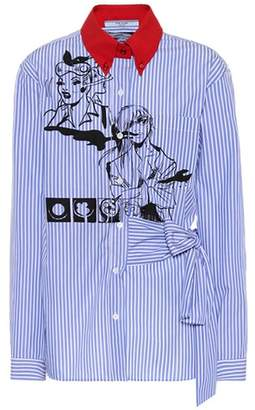 Prada Striped cotton shirt