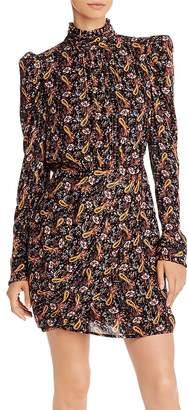 Aqua Capsule Puff-Sleeve Metallic Paisley Dress - 100% Exclusive