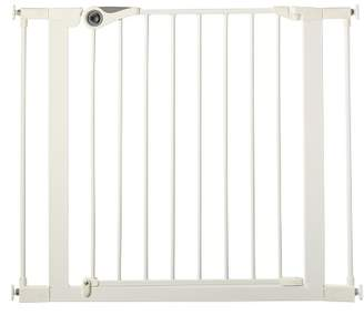 North States Industries Essential Walk Thru Baby Gate - White 29.5-39.0