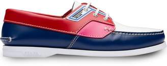 Prada colour block boat shoes