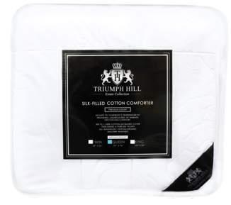 Mulberry Triumph Hill 100% Silk 100% Jacquard Cotton Medium Weight All Season Bed Comforter Queen Size Machine Washable