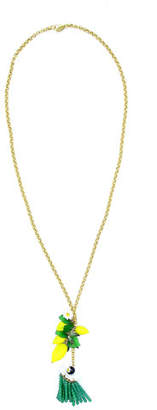 Elizabeth Cole Lemon Pendant Necklace