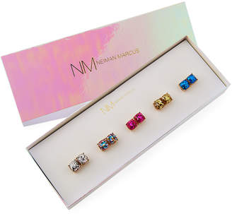 Lydell NYC Glitter Stud Earrings, Set of 5