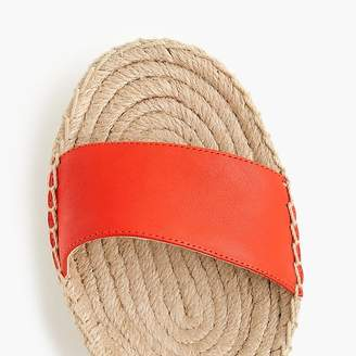 J.Crew Platform espadrille sandals in leather