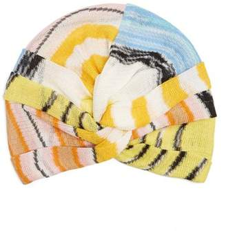 Missoni Mare - Wave Stripe Knitted Turban Hat - Womens - Multi