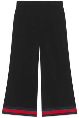 Gucci Viscose culotte trousers with Web
