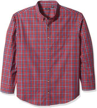 Arrow Men's Big-tall Big and Tall Long Sleeve Plaid Shirt