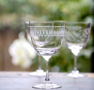 The Vintage List Set Of Six Ovals Art Deco Style Wine Glasses