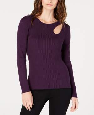 INC International Concepts I.n.c. Ribbed Cutout Sweater, Created for Macy's