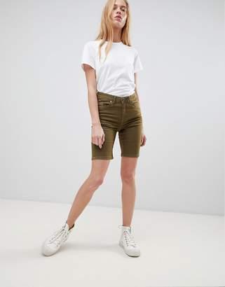 B.young longline denim shorts