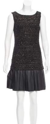 Mark & James by Badgley Mischka by Badgley Mischka Leather-Accented Mini Dress
