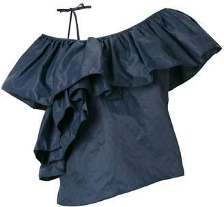 Marques Almeida Marques'almeida asymmetric ruffle blouse