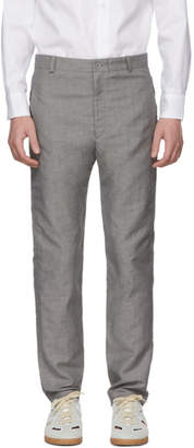 House of the Very Islands Grey Tropical Wool Tailored Trousers