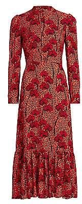 Borgo de Nor Women's Rafaela Crepe Tie-Neck Gown