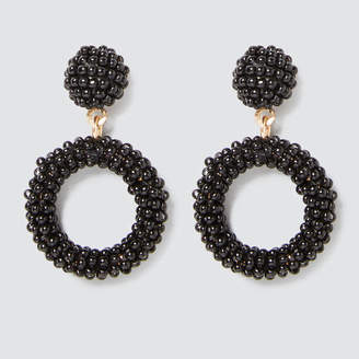 Mini Beaded Drop Earrings