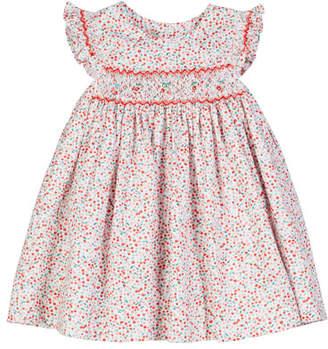 Luli & Me Cherry-Print Smocked Dress, Size 6-24 Months