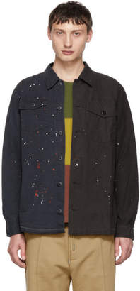 John Elliott Black Distorted Military Shirt