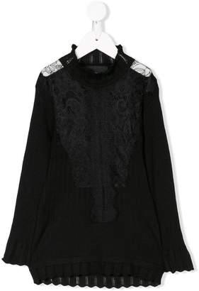 John Richmond Junior lace embellished blouse