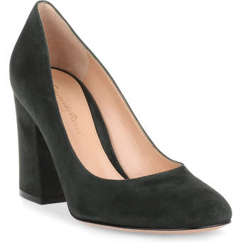 Gianvito Rossi Green 85 suede pump