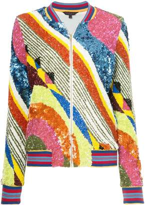 Manish Arora geometric patterned bomber jacket