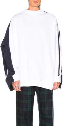 Y/Project Double Sweater in White & Navy | FWRD