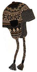 Muk Luks Traditional Knit Button Top Trapper Ha t for Men