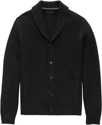 Banana Republic SUPIMA Cotton Shawl-Collar Cardigan Sweater