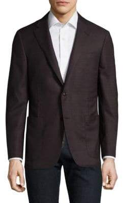 Hickey Freeman Burgundy Wool Blazer