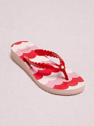 Kate Spade Mare Flip-flop Sandals, Ripe Cherry - Size 10