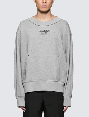 Mr. Completely Front Back Sweatshirt