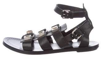 Proenza Schouler Leather Embellished Sandals
