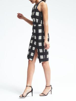 Gingham Bistretch Sheath Dress $128 thestylecure.com