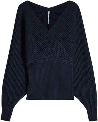 Rosetta Getty Ribbed Knit Pullover