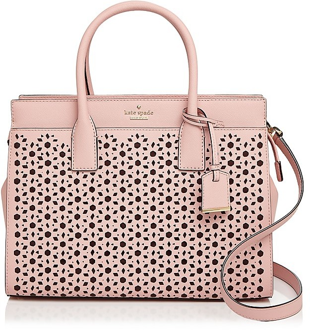 Kate Spade kate spade new york Cameron Street Candace Perforated Leather Satchel