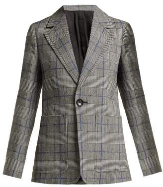 Joseph Annab Prince Of Wales Checked Wool Blazer - Womens - Grey Multi