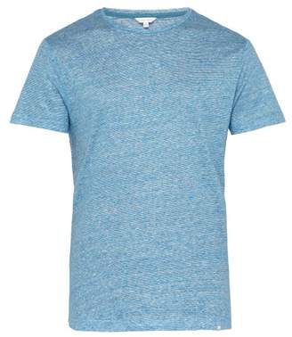 Orlebar Brown Ob T Striped Linen Jersey T Shirt - Mens - Blue
