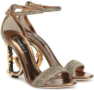 Dolce & Gabbana Keria embellished leather sandals