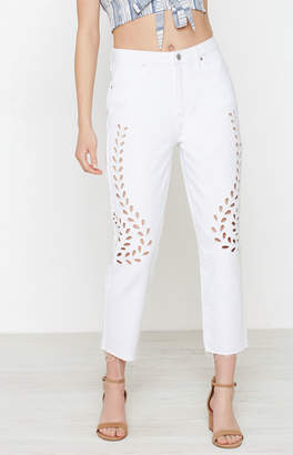 Pacsun Cutout White Mom Jeans