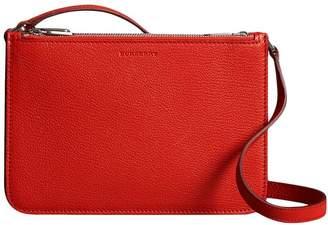 Burberry Triple Zip Grainy Leather Crossbody Bag