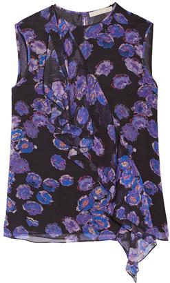 Jason Wu - Ruffled Crinkled Silk-chiffon Top - Purple $695 thestylecure.com