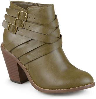Journee Collection Womens Strap Booties Stacked Heel