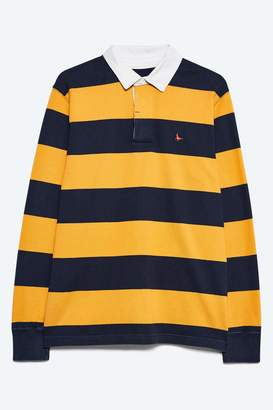 498cd7ce072 Next Mens Jack Wills Navy/Yellow Camber Rugby Stripe Top